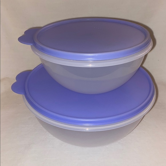 Tupperware Wondalier 12 cup & 6 cup Bowls